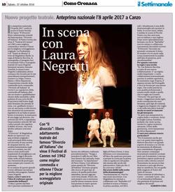Intervista a Laura Negretti - Il Settimanale - 18-n39 (2) - 22 ott 16