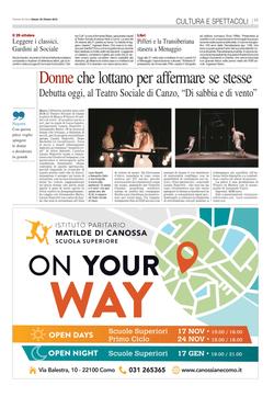 Corriere Como - 20 Ottobre 2018