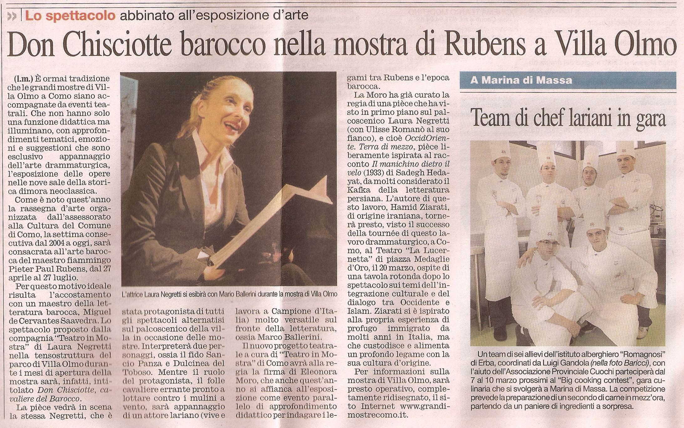 Corriere di Como 27 Febbraio 2010
