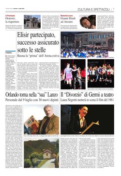 Corriere di Como - 1 Luglio 2016