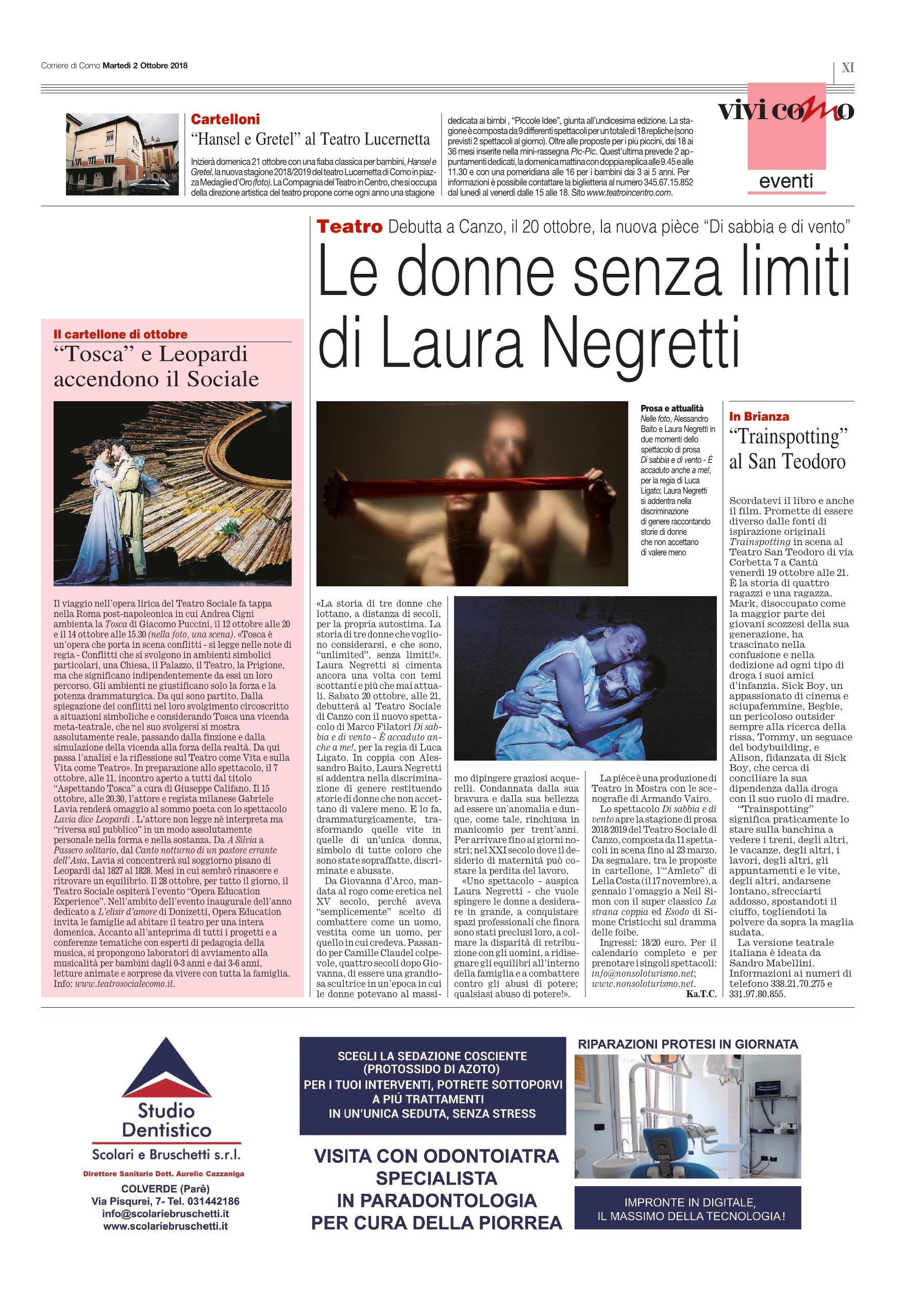 Corriere Como - 2 Ottobre 2018