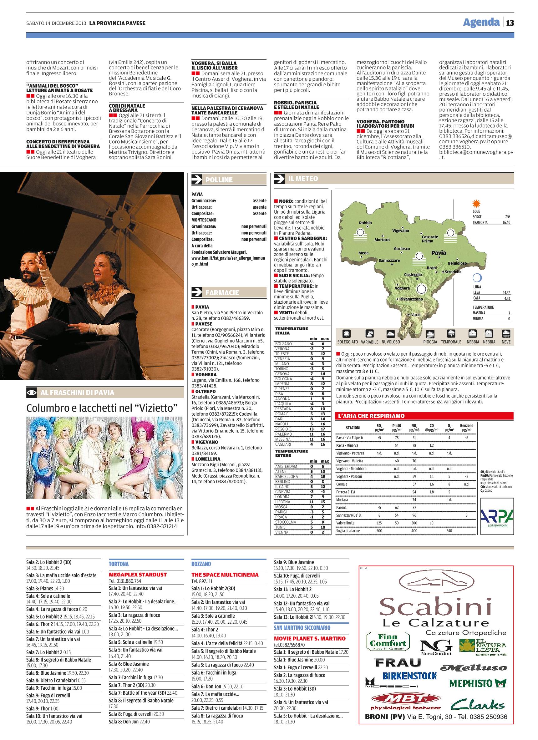 La Provincia Pavese14 Dicembre 2013