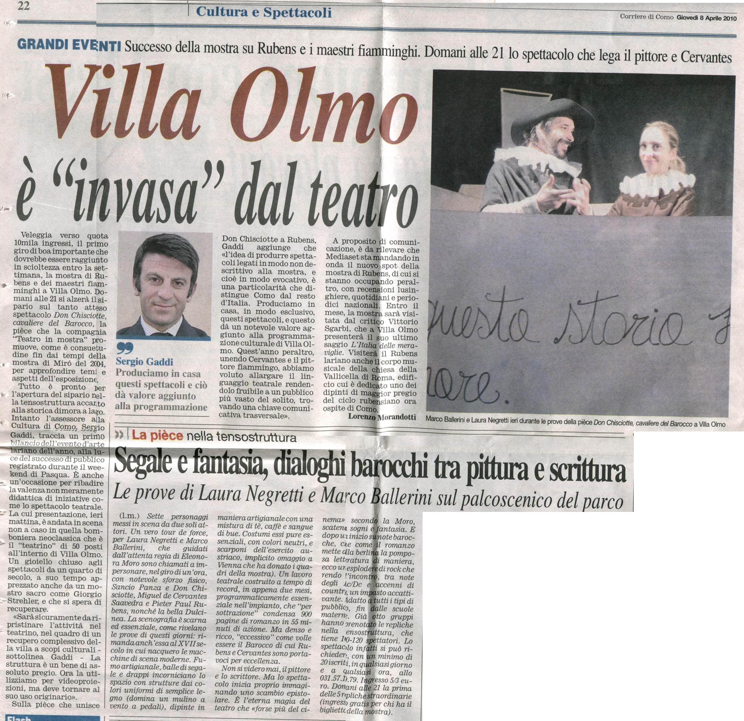 Corriere di Como 8 Aprile 2010