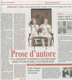 Corriere di Como 8 Febbraio 2011