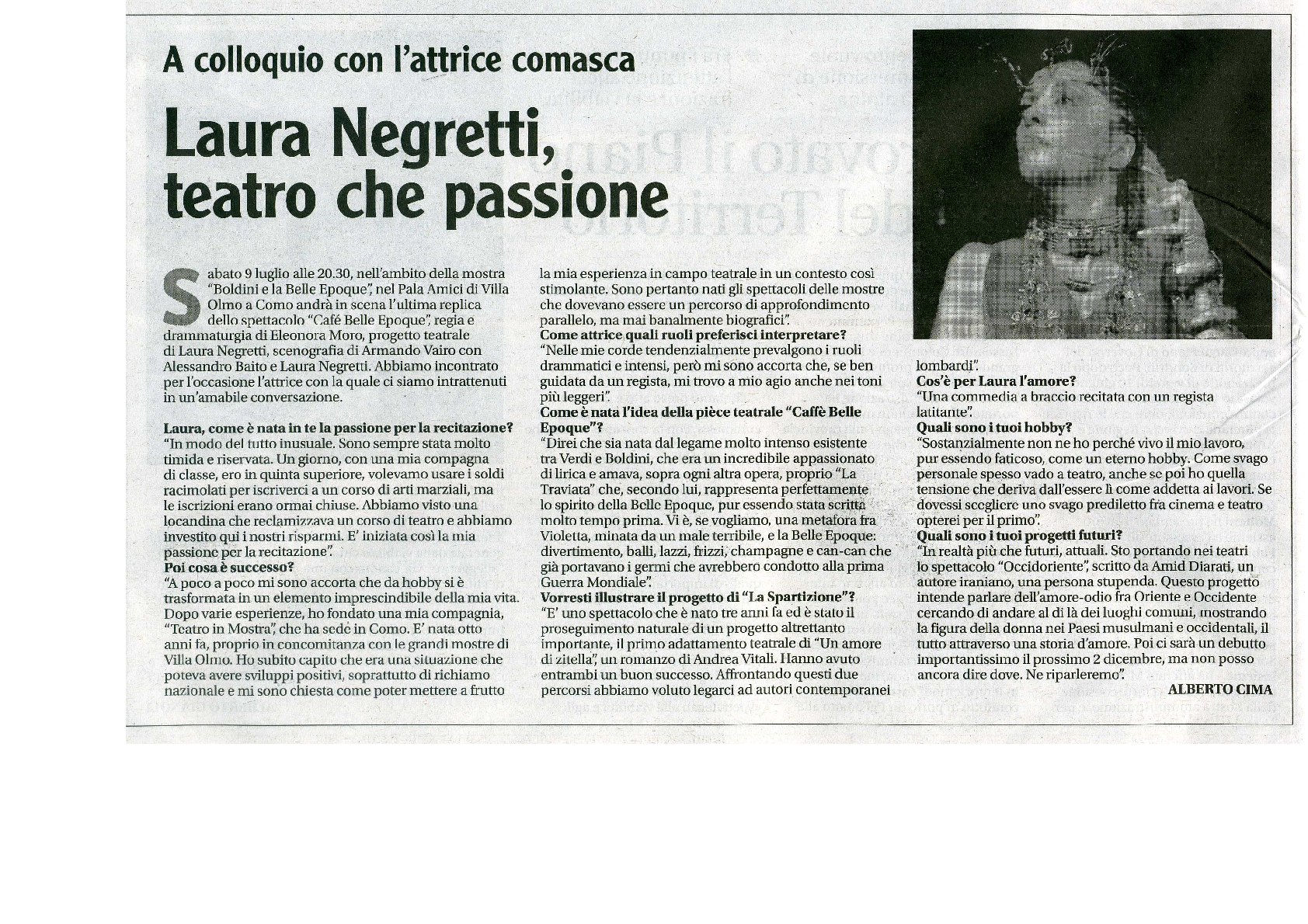 Intervista a Laura Negretti - Il Settimanale - 18 giu 111