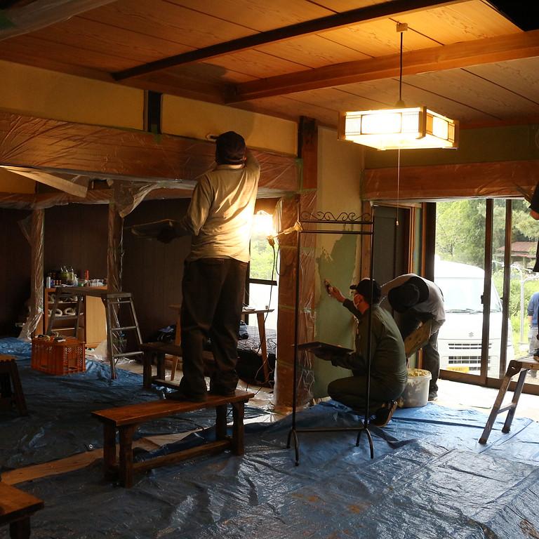 空き家の旧蚕室をリノベる会【Day2】