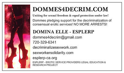 Contact Domina Elle for more info