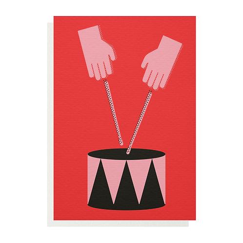 Drum Greetings Card