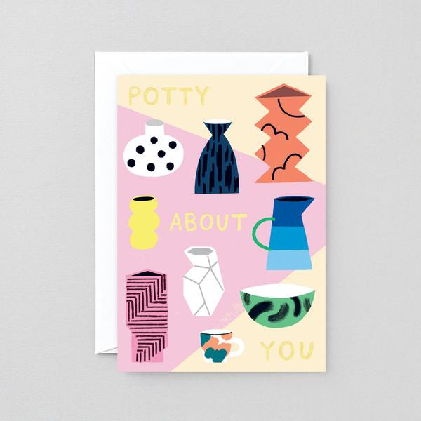 Potty About You Card by Charlotte Trounce