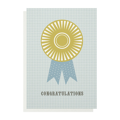 Congratulations Rosette Greetings Card