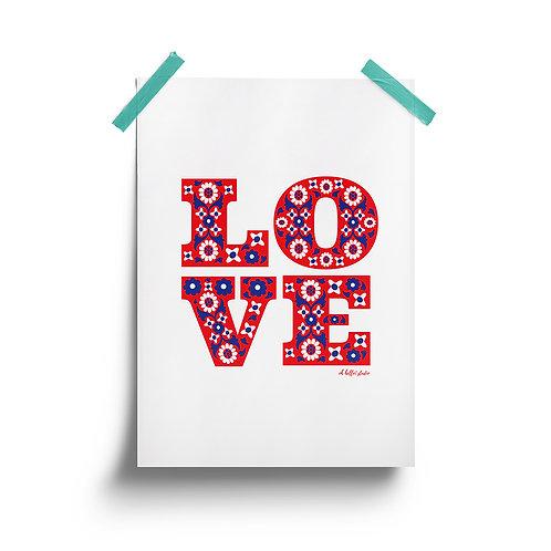 Wholesale | Floral Love Print