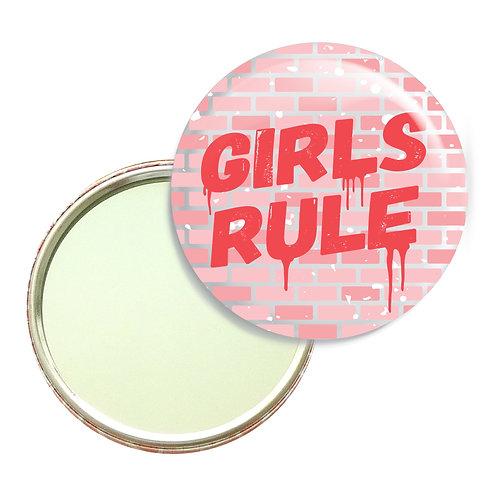 Girls Rule Pocket Mirror