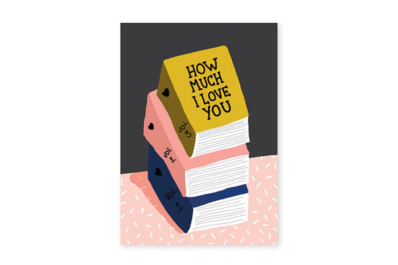 Love Books Card by All the Ways to Say