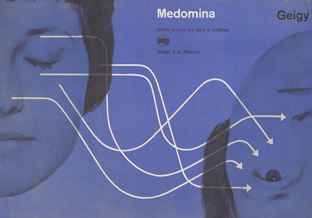 Medomina advertising (sedative), c.1960s, Produced by JR Geigy AG