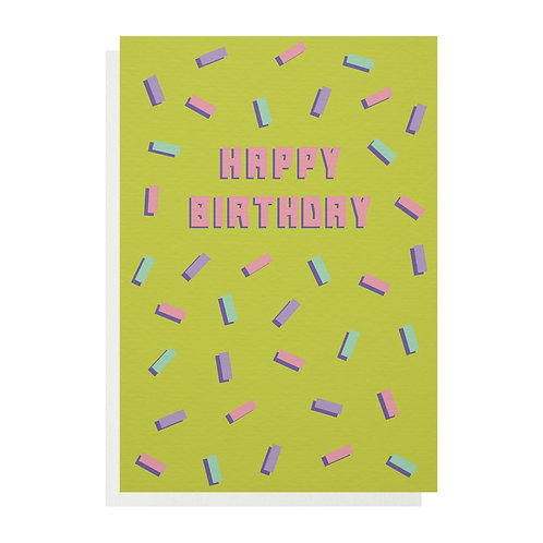 Birthday Confetti Greetings Card