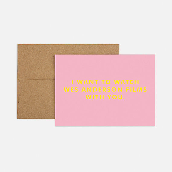 Wes Anderson Card by Analog Supply Co.