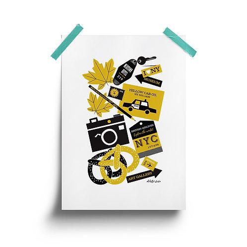New York Travel Print
