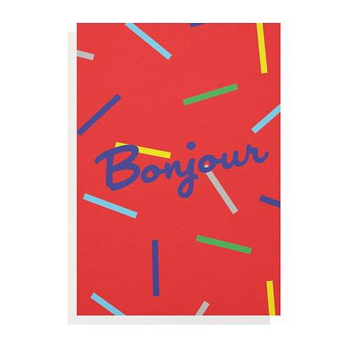 Wholesale | Bonjour Greetings Card