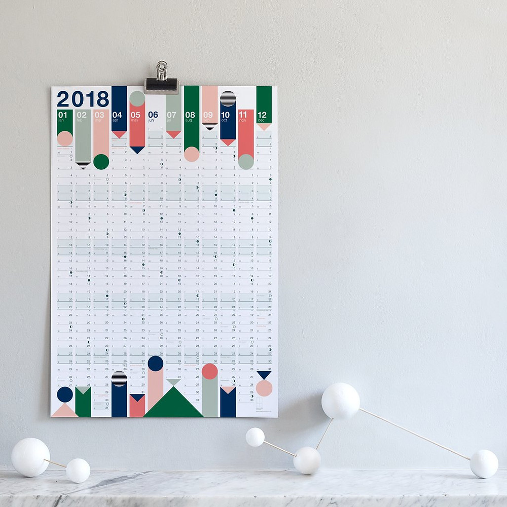 Colours Year Planner by Lollipop Studio