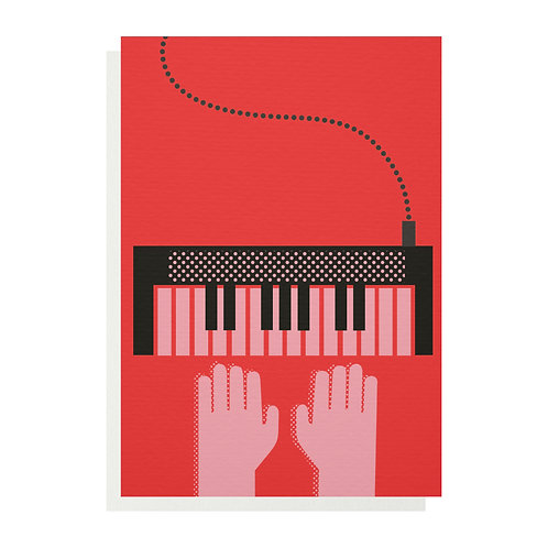 Wholesale | Keyboard Greetings Card
