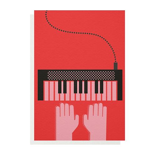 Keyboard Greetings Card