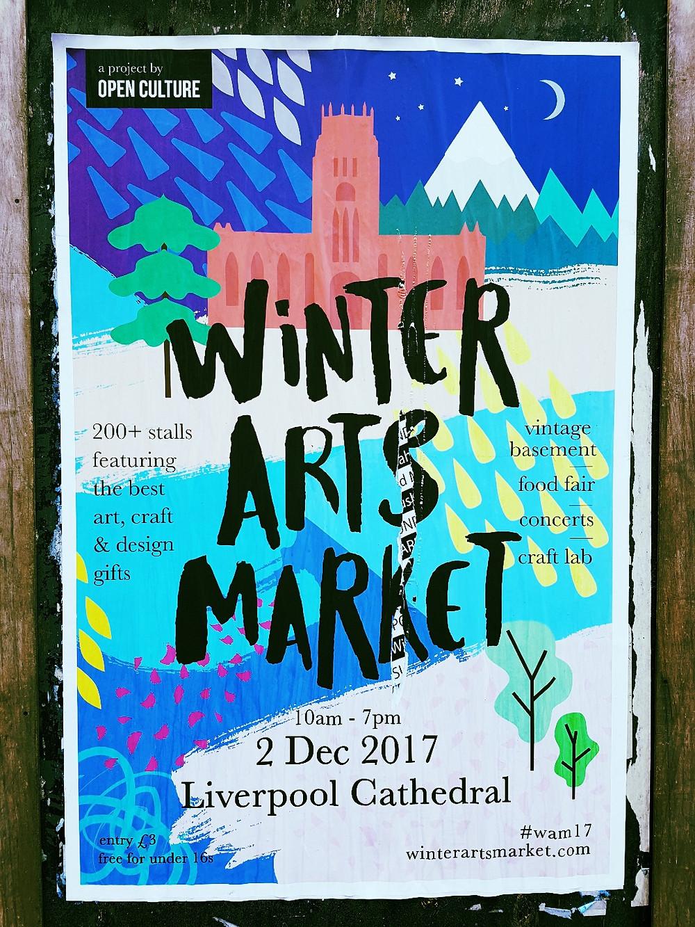 Open Culture Winter Arts Market 2017 Poster