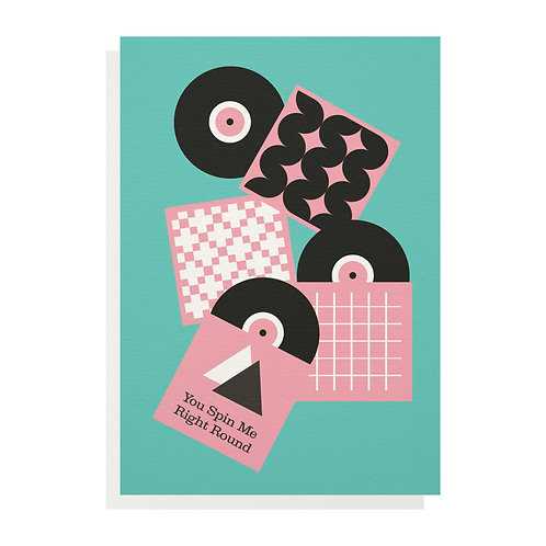 Wholesale | You Spin Me Right Round Greetings Card