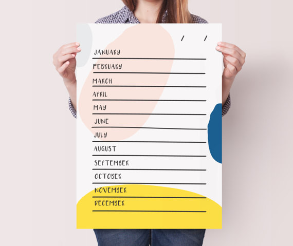 Motivational Wall Planner by Doodle Love