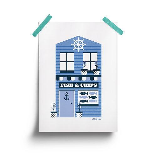 Fish and Chip Shop Print