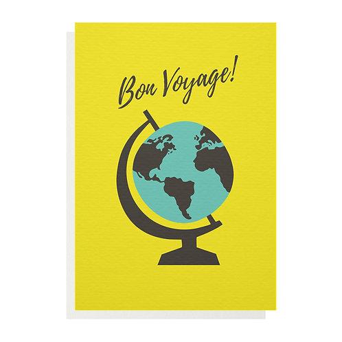 Wholesale | Bon Voyage Globe Greetings Card