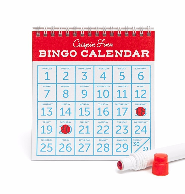 Bingo Desktop Calendar by Crispin Finn