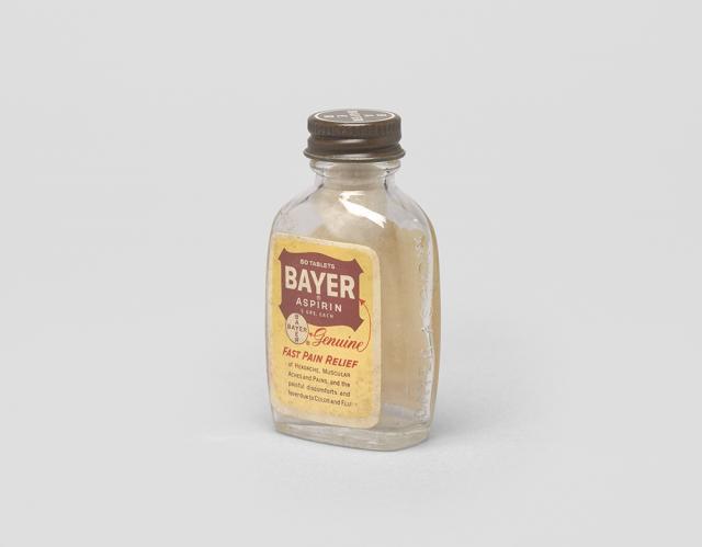 Bayer Aspirin bottle, 1986