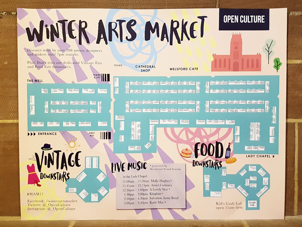 Winter Arts Market 2017 Map