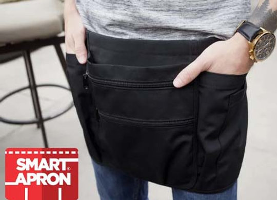Waist Smart Apron -  BLACK