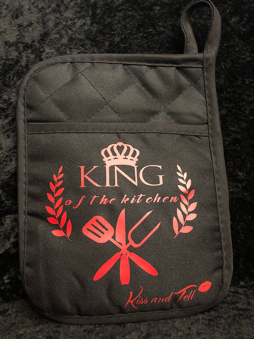 KING OF THE KITCHEN POT HOLDER/ OVEN MITT