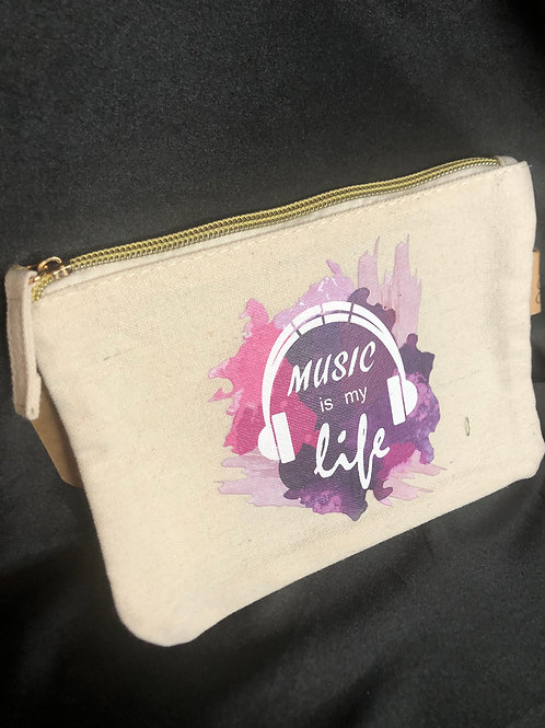Canvas Music is my life pouch for mask