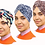 Thumbnail: 3 Pack Set of PRE-TIED Headwrap Turban W/ Rose Flower Knot Bonnet Stretch Jersey