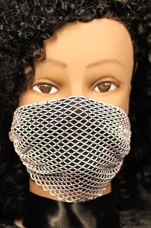 Bling Rhinestone Crystal Face Mask Mouth Cover Party Women Fashion Jewelry
