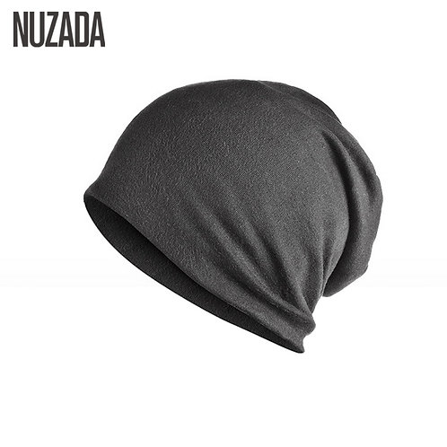 Unisex Men Women Skullies Beanies Cap Knitted Cotton Double Layer Fabric Caps