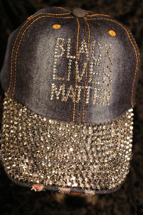 Blue Jean Lives Matter Hat - Adjustable Black Cap