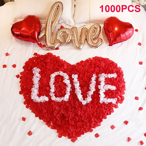 1000piece Romantic Silk Rose Petals for Wedding Decoration Artificial