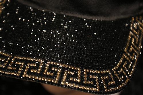 Black and Gold Adjustable Black Cap