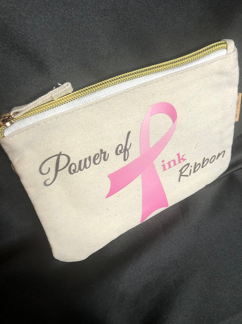 Canvas Power of the Pink Pouch for Mask