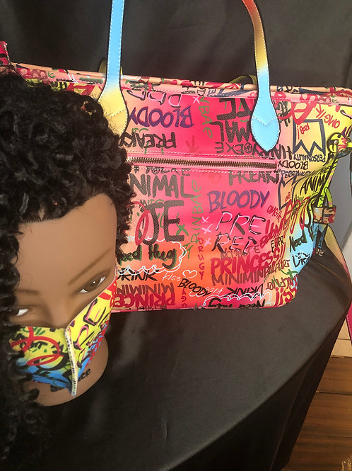 Graffiti Bag with matching mask