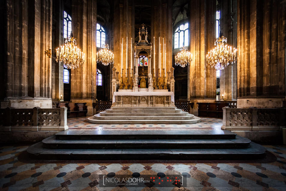 Altar of the Saint-Eustache church, Paris