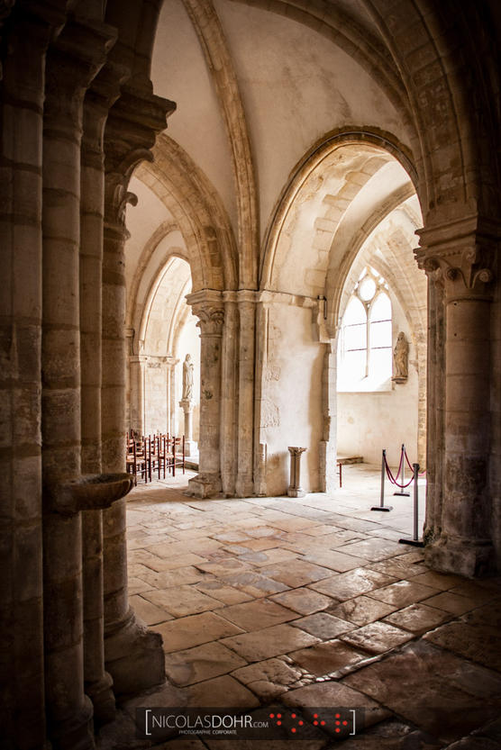Arches of the church of Bar-sur-Aube