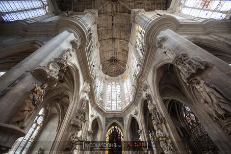 Frame of the Saint-Panthaléon church, Troyes