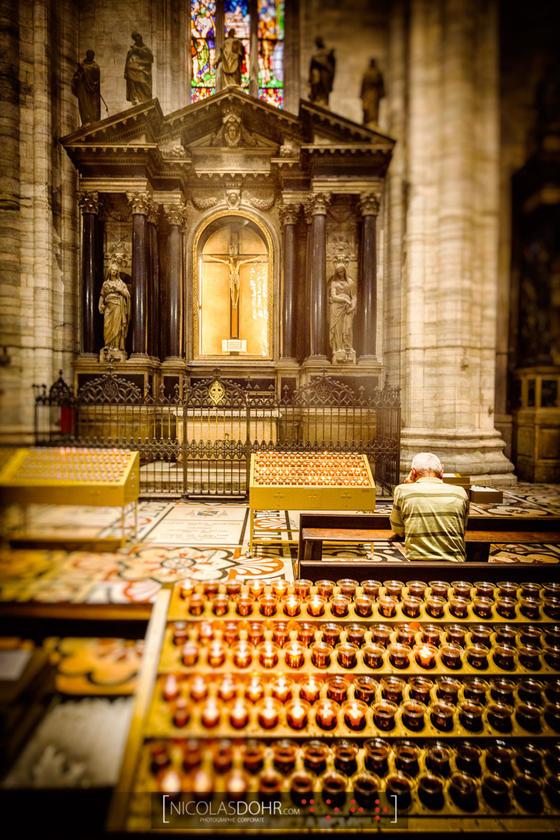 Prayer, Duomo of Milan