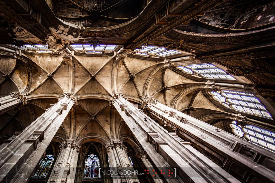 Vaulting of the Saint-Eustache church, Paris