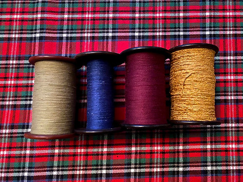 208 - Set of Four Silk Bobbins with Thread